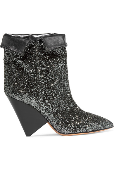 metallic boot silver