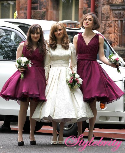 Hairstyle For Brothers Wedding: Keira Knightley Bridesmaid At Brothers Wedding