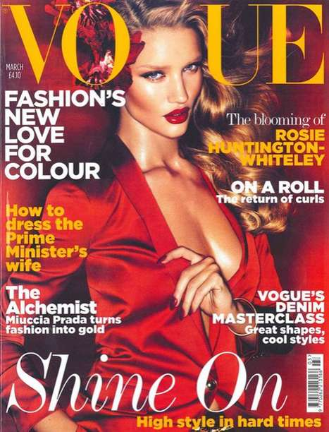 Rosie Huntington-Whiteley Debut Vogue Cover And Topless Shoot