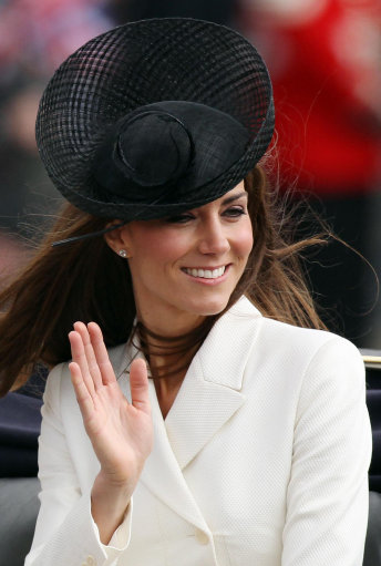 Duchess Of Cambrige Attends Trooping Of The Colour