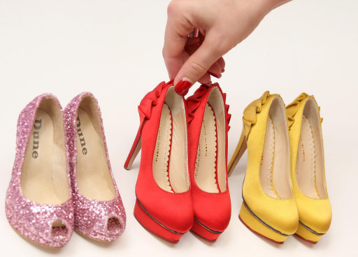 Minature Shoes By Christian Louboutin Make Up Part Of Selfridges White Christmas 2011 Collection