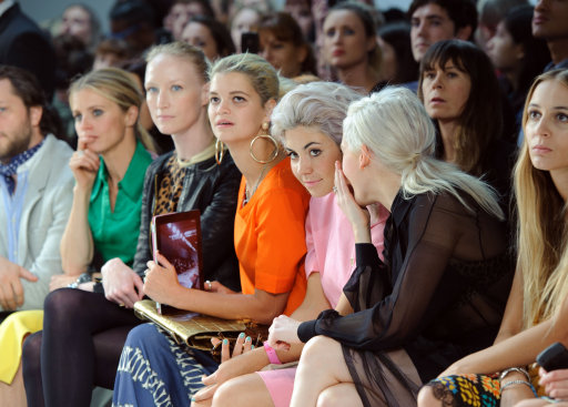 Celebrities Attend House of Holland S/S '12 Fashion Show – London Fashion Week