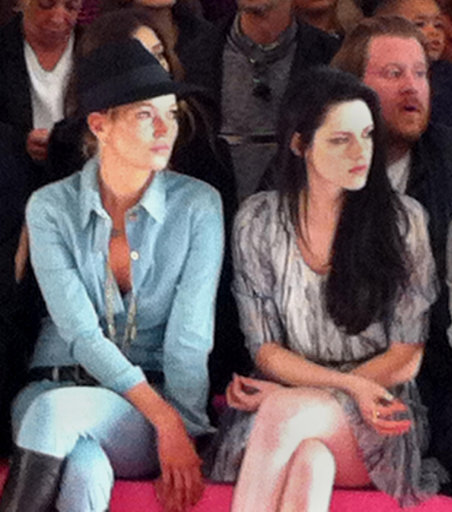 Kristen Stewart And Kate Moss Attend Mulberry S/S '12 Catwalk Show – London Fashion Wee