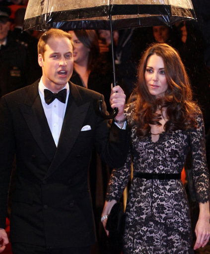 Duchess of Cambridge looks stunning in lace as she attends the UK premiere of War Horse