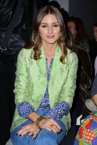 Olivia Palermo and other celebs in front row at Jonathan Saunders a/w '12 catwalk show