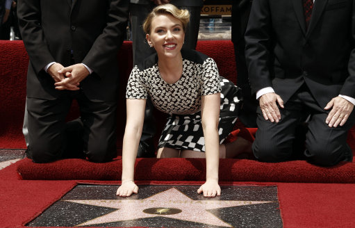 Scarlett Johansson honoured with a Star on The Hollywood Walk Of Fame – Los Angeles