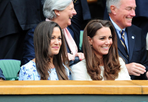 Duchess Of Cambridge and Pippa Middleton attend Wimbledon Final