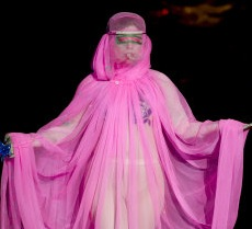 Lady Gaga Takes To The Catwalk for Philip Treacy Show At London Fashion Week