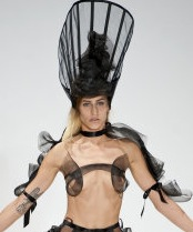 Pam Hogg Fashion Show At London Fashion Week (Editor notes nudity)