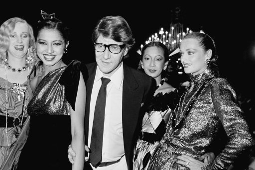 Yves Saint Laurent before the start of his 19791980 fall-winter Haute Couture fashion show in Paris