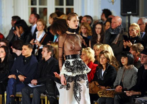 Fyodor Golan Catwalk – London Fashion Week 2013 (Editor Notes Nudity)