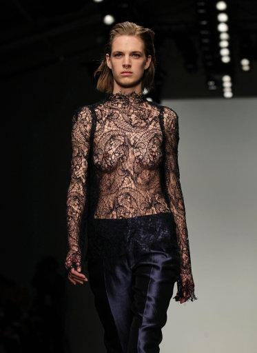 Todd Lynn Catwalk – London Fashion Week 2013 (Editor Notes Nudity)