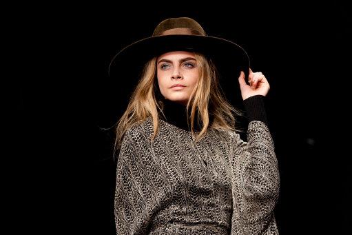 Cara Delevingne models for Issa at  London Fashion Week 2013