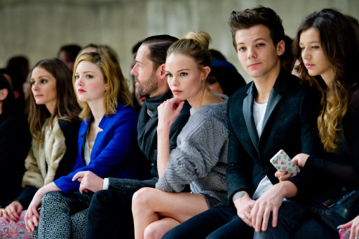 Louis Tomlinson, Kate Bosworth and other Celebs at Unique Front Row – London Fashion Week 2013