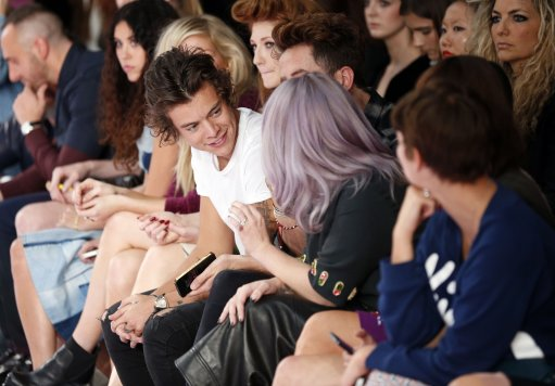 Harry Styles At House of Holland Front Row – London Fashion Week 2013