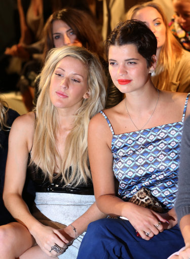 Ellie Goulding And Other Celebrities at Topshop Unique Front Row – London Fashion Week 2013