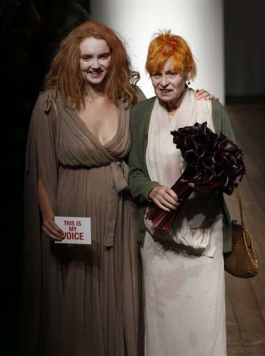 Lily Cole Performs A Dance and Models for Vivienne Westwood S/S 14 Catwalk – London Fashion Week