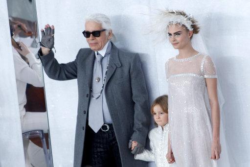 Cara Delevingne models at Chanel S/S 2014 Haute Couture Show- Paris Fashion Week