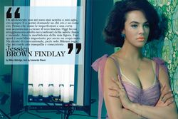 Jessica Brown Findlay by Miles Aldridge for Vogue Italia