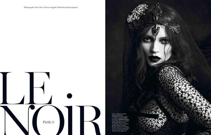 'Le Noir' Kate Moss & Saskia De Brauw by Mert & Marcus for Vogue Paris September 2012