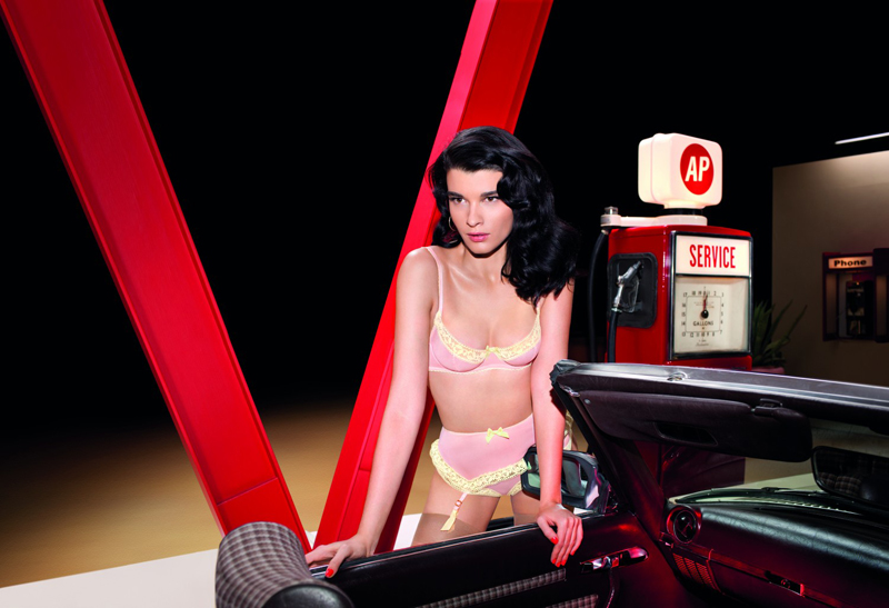 Crystal Renn for Agent Provocateur SS 2013 Campaign by Olivier Zahm