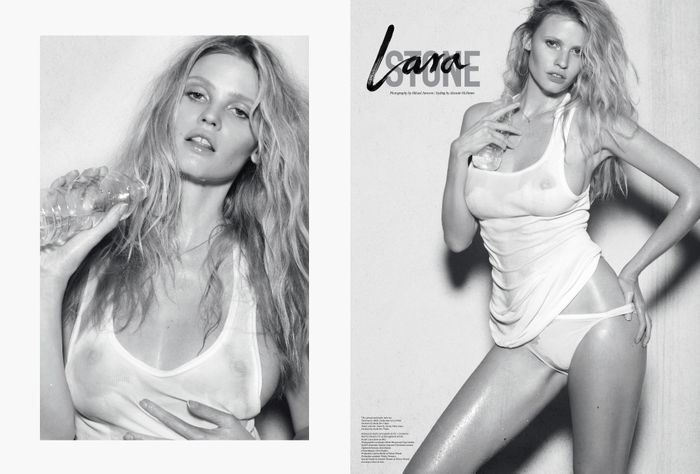 Lara Stone by Mikael Jansson for The Last Magazine F.W 12.13 (Editor notes nudity)