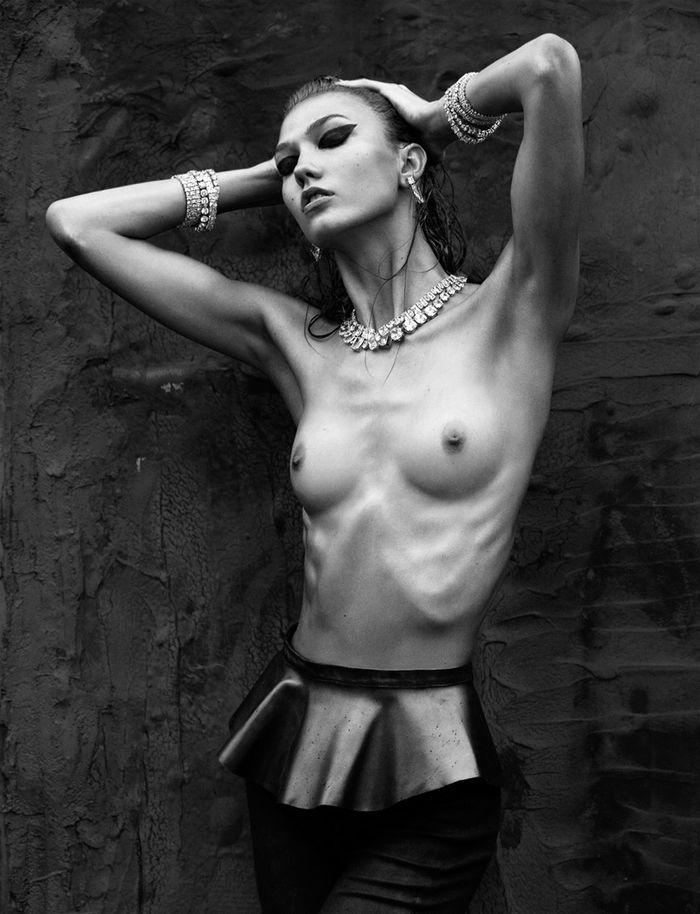Karlie Kloss by Greg Kadel for Numéro No.137 October 2012 (Editor Notes Nudity)