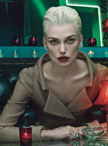 70's (Rooney), 80's (Mia), 90's (Scarlett), 2000's (Keira) for W's 40th Anniversary Issue November 2012 by Steven Klein