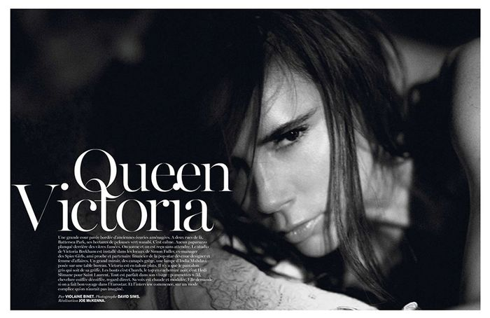 'Queen Victoria' Victoria Beckham by David Sims for Vogue Paris