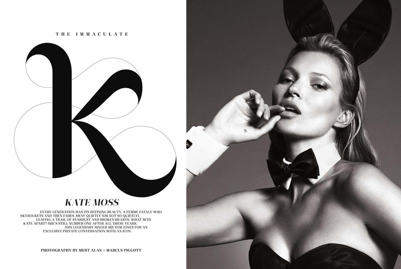 'The Immaculate Kate Moss' by Mart & Marcus for Playboy 60th Anniversary