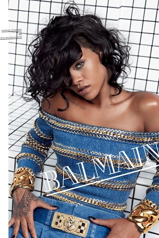 Rihanna for Balmain SS 2014 Campaign by Inez van Lamsweerde & Vinoodh Matadin