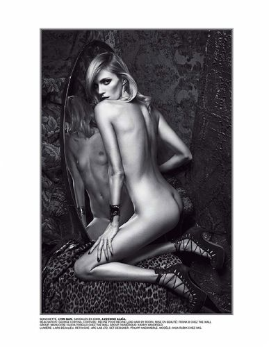 Anja Rubik by Mario Sorrenti for Lui April 2014 (Editor Notes Nudity)