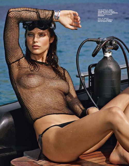 Emily DiDonato by Mark Segal for Lui Summer 2014 (Editor Notes Nudity)