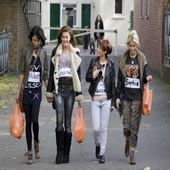 X Factor: Cher Lloyd, Mary Byrne & Belle Amie Work This Seasons Carrier Bag Trend – Pictures