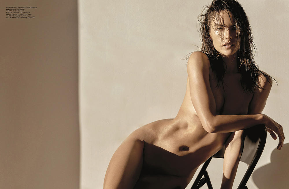Alessandra Ambrosio naked in Narcisse Magazine