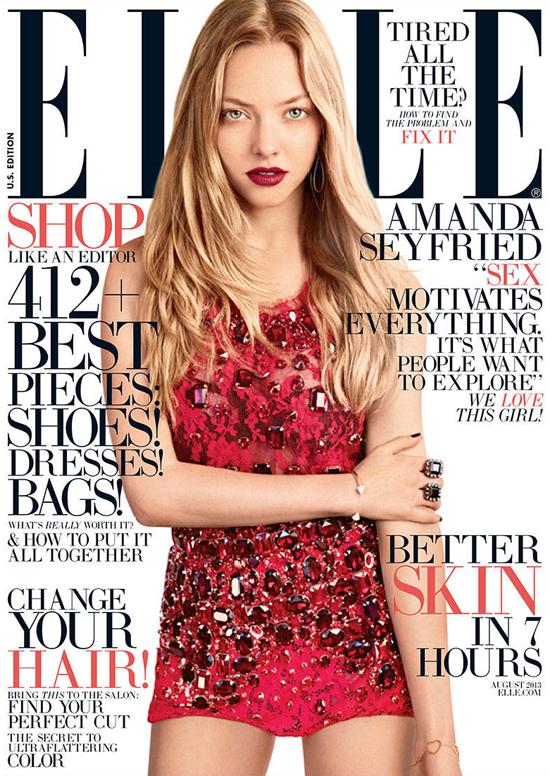 Amanda Seyfried for ELLE Magazine