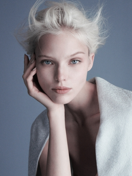 Anja Rubik, Natasha Poly, Sasha Luss and Anna Ewers Topless in Exhibition Magazine 2014