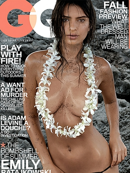 Emily Ratajkowski in GQ Magazine July 2014 (Editor Notes Nudity)