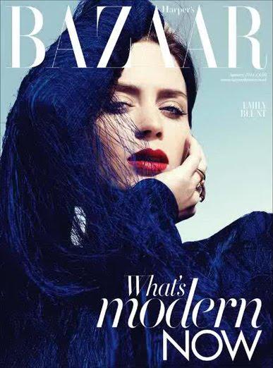Exquisitely Blunt – Emily Blunt Photoshoot For Harpers Bazaar