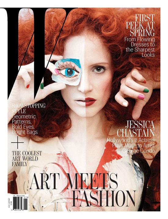 Jessica Chastain for W Magazine