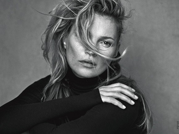 Kate Moss Topless for Vogue Italia