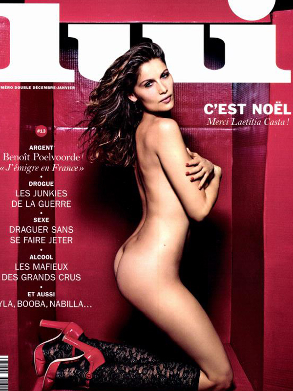 Laetitia Casta Covered Naked for Lui Magazine