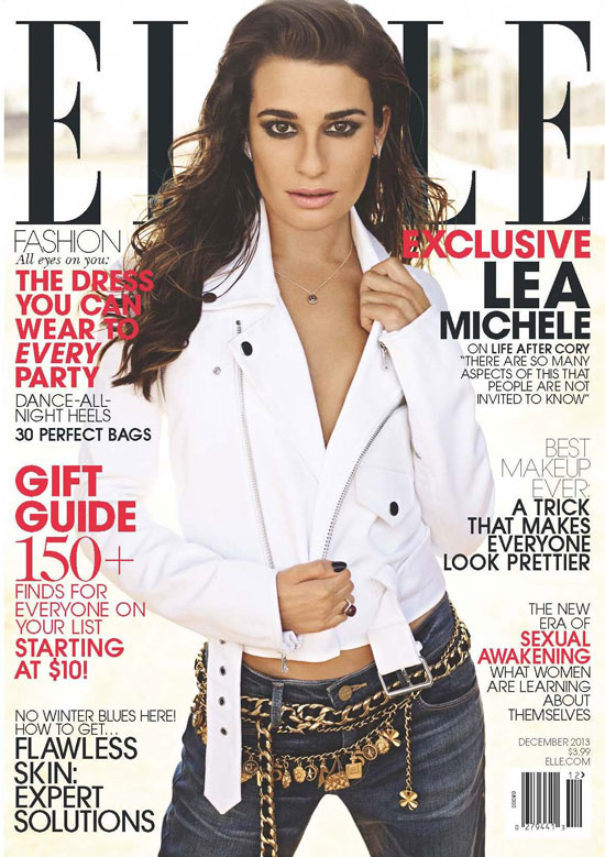 Lea Michele for ELLE Magazine