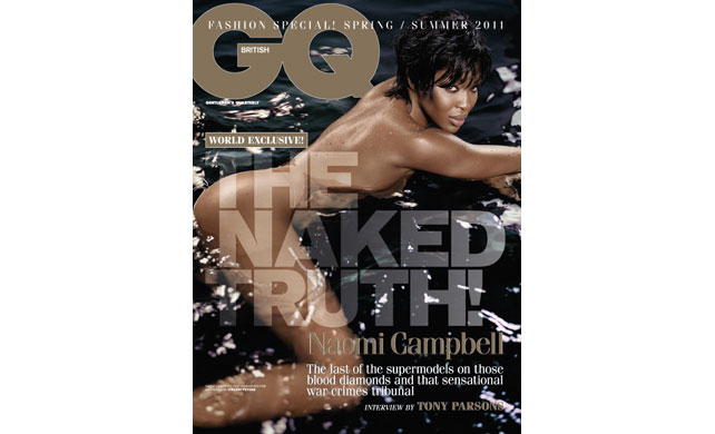 Naomi Campbell Naked On The Cover Of GQ