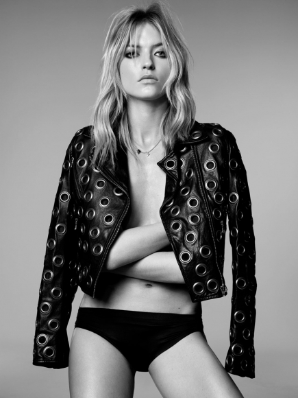 Martha Hunt Topless Black and White Shoot by Adam Franzino