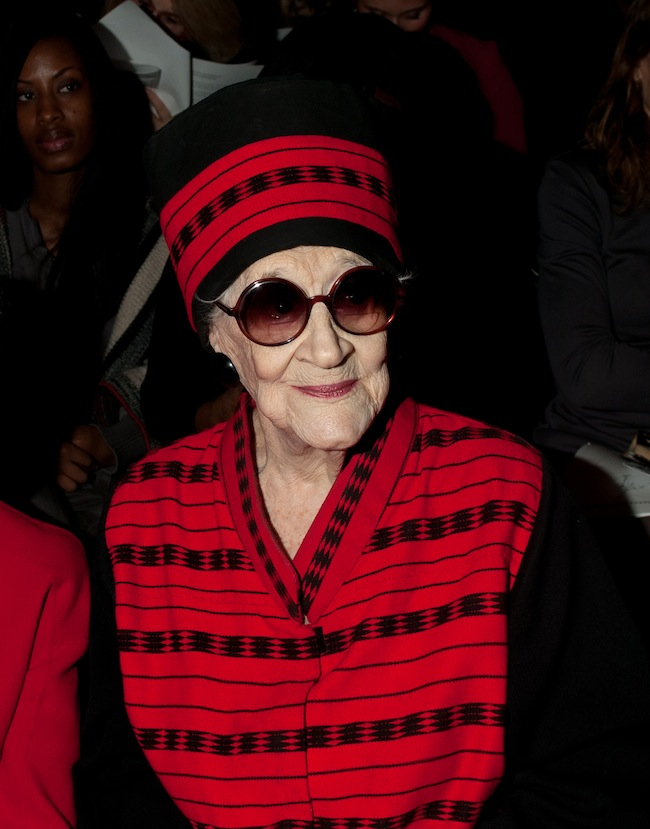 Zelda Kaplan dies at Joanna Mastroianni Fall 2012 fashion show