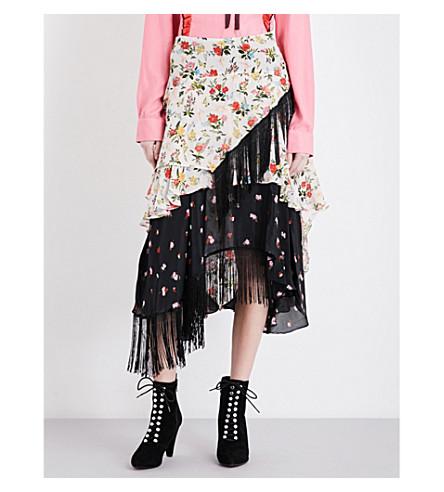 PREEN LINE Rochelle asymmetric fringed skirt £325 selfridges.com
