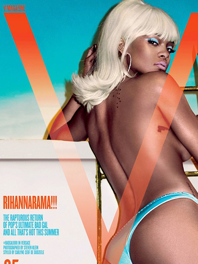 Rihanna Topless Covered For V Magazine