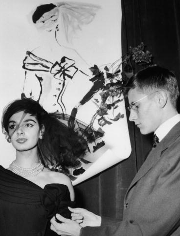 Karl Lagerfeld And Yves Saint Laurent'S Debuts in 1954 – Pictures
