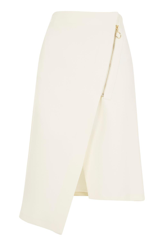 Asymmetric Zip Midi Skirt £48.00 topshop.com